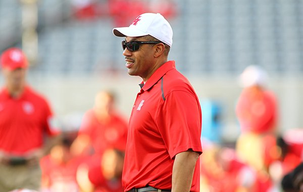 Vernon Hargreaves was hired as Arkansas' linebackers coach on Jan. 20, 2015 after spending two seasons at Houston.