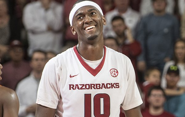 Arkansas sophomore Bobby Portis reacts to a call against Tennessee in the second half Tuesday, Jan. 27, 2015 at Bud Walton Arena in Fayetteville. The Razorbacks won 69-64.