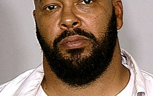 """Marion """"Suge"""" Knight, the former chief executive of Death Row Records, was arrested in West Hollywood on Friday on suspicion of murder."""
