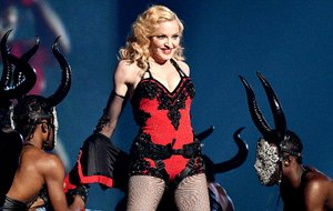 Madonna gave music fans a shock when she tumbled down several steps at the Brit Awards.