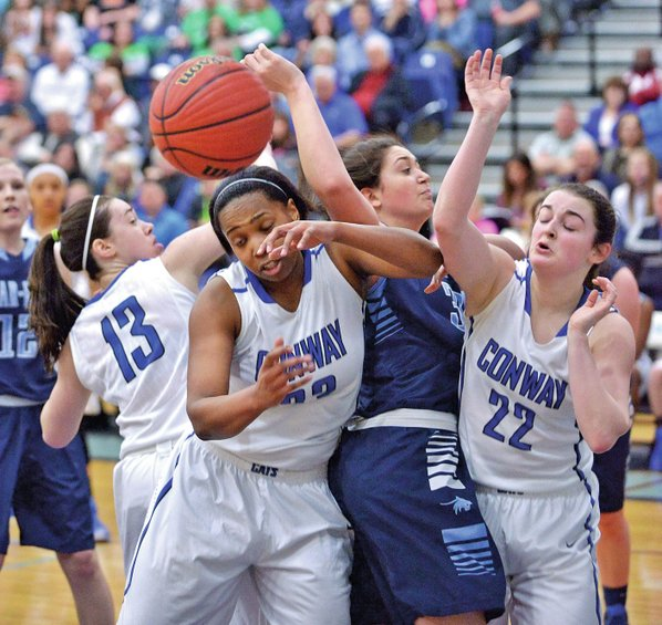 Basketball conway girls run past springdale har ber nwadg for Lowe s fayetteville ar