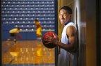 4/1/14 Arkansas Democrat-Gazette/STEPHEN B. THORNTON KeVaughn Allen, who is our Mr. Basketball for 2014.
