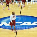 Arkansas Coach Mike Anderson, who has led the Razorbacks to the NCAA Tournament for the fi rst time ...