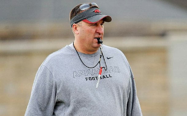 Arkansas Coach Bret Bielema is devoting more time in practice to working on the passing game of new offensive coordinator Dan Enos.