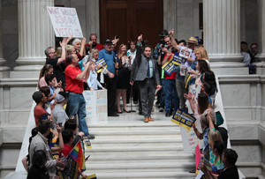 HB1228 heads for House; protesters flood Capitol
