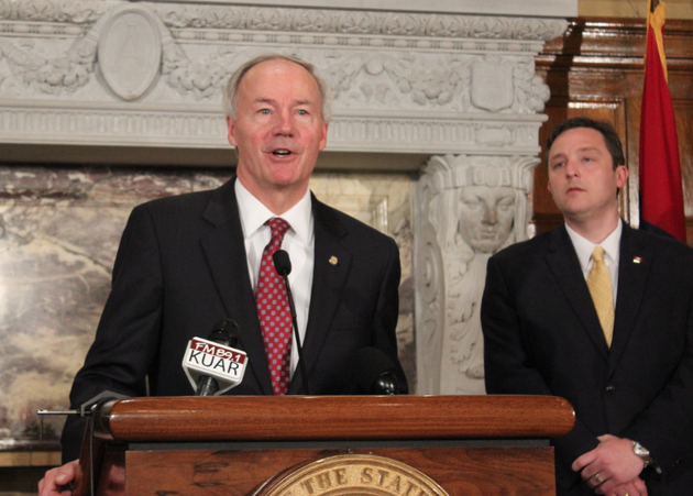 gov-asa-hutchinson-on-wednesday-april-1-2015-calls-for-changes-to-house-bill-1228-while-house-speaker-jeremy-gillam-looks-on-at-a-news-conference-at-the-state-capitol-in-little-rock