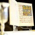 A Haggadah, a Jewish text that sets forth the order of the seder, is set on display at the Lost Brid...