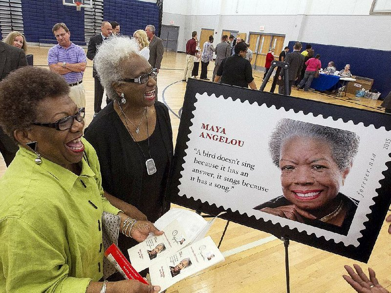 Childhood home unveils Angelou stamp