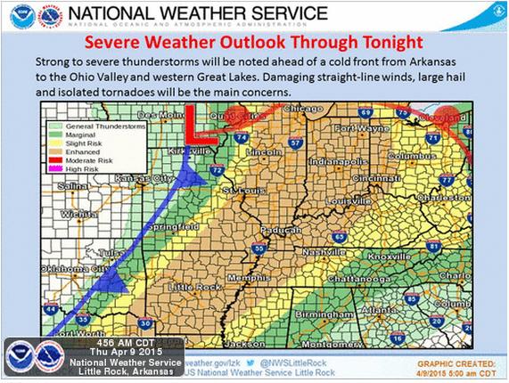 April 9 2015 forecast graphics