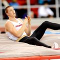 Arkansas pole vaulter Andrew Irwin injured his hamstring at the NCAA Indoor Championships, but he lo...