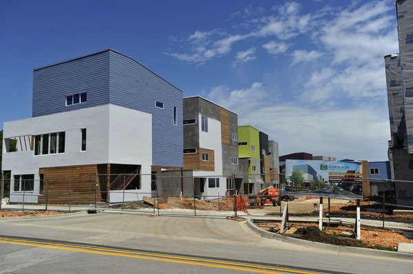 work stops on fayetteville student housing project