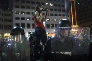 Streets calm after 71 arrested in Cleveland protests