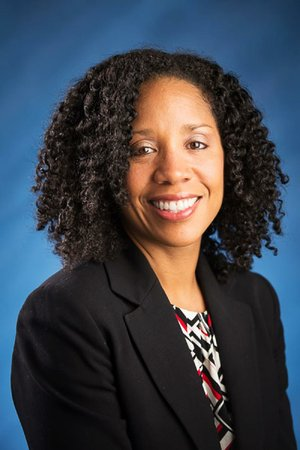 """Living in poverty is a """"major risk factor"""" for developing asthma, said Tamara Perry (shown in this file photo), an associate professor at UAMS and Arkansas Children's Hospital."""