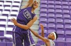 News-Times Terrance Armstard El Dorado post player Daniel Gafford goes up for a dunk during a team scrimmage Thursday evening at the Wildcat Team Camp. To view and purchase more photos visit eldoradonews.com and click 'Photos.'