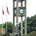 This clock, a remnant of the 1916 courthouse in Greenwood that was destroyed in a 1968 tornado, hasn...