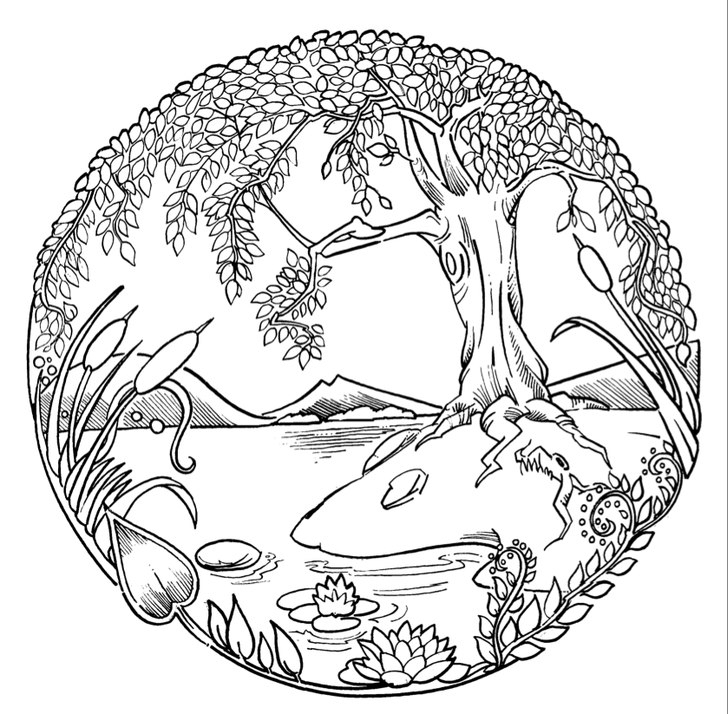 Try Your Hand At Coloring This Pastoral Scene