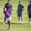 Cheyenne Woods, shown during Wednesday's pro-am before the LPGA Northwest Arkansas Championship at P...