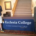 Ecclesia College cross country coach Lee Wood (left) and Athletic Director Dean Skinner pose for a p...