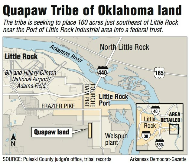Quapaw Tribe Willing To Sign Nocasino Pact For Land Near LR Port - Native american tribes arkansas map