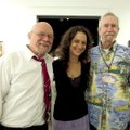 Artists William Mayes Flanagan, Sheri Bohn and David Bachman catch up at Underground 101, an event w...