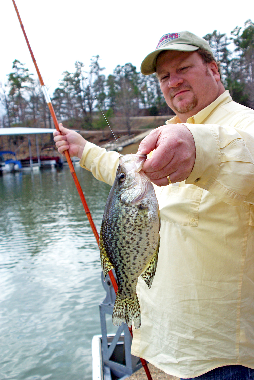 Natural state style crappie fishing for Crappie fishing pole
