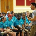 Hoan Do of Seattle speaks Thursday during a workshop about achieving goals for 4-H students in the U...