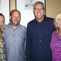 Matt and Karey Marrs (from left) and Mike and Jill Sewell visit at the Color of Hope VIP Night.