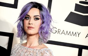 In this Feb. 8, 2015 file photo, Katy Perry arrives at the 57th annual Grammy Awards at the Staples Center in Los Angeles.
