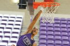 El Dorado post player Daniel Gafford goes up for a dunk during a team scrimmage Thursday, June 18, 2015, at the Wildcat Team Camp.