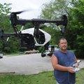 Jimmy Harmon of Bella Vista flies his drone June 19 near Lake Bella Vista. Harmon said he uses the a...