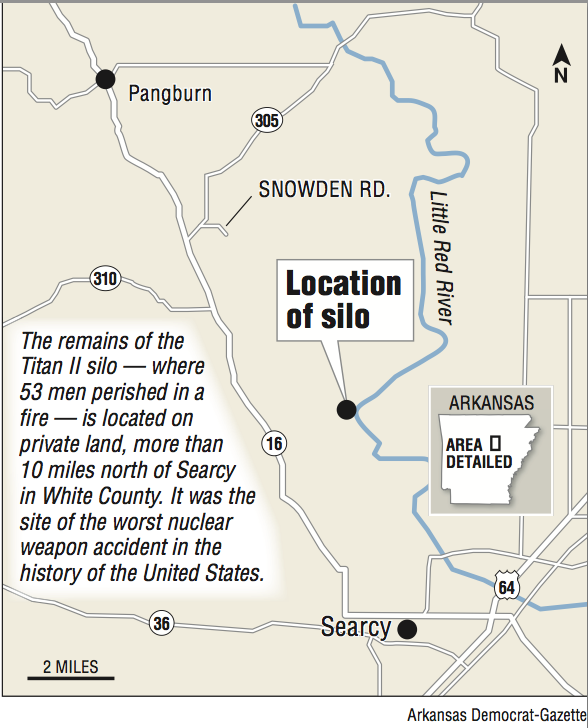 Slab Rusty Pipes Mark The Spot Missile Silo Fire Killed - Map of us missile silos