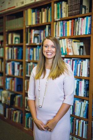 Kelsey Powell is the new executive director of Conway Cradle Care, located in the First Presbyterian Church in Conway. Powell volunteered at the day care when she was a student at Conway High School, which is next door to Conway Cradle Care.