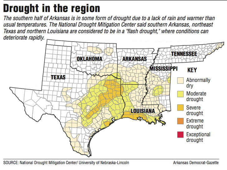 A Map Showing Drought Areas In The Region