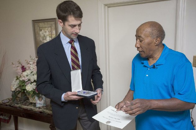 us-sen-tom-cotton-r-ark-presents-melvin-fields-68-of-pine-bluff-with-the-purple-heart-on-thursday-for-injuries-he-suffered-during-army-service-in-vietnam-in-1968