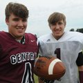 Jake Faulkenberry (left) will be catching passes thrown by his brother, quarterback Jon Faulkenberry...
