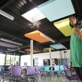 Denise Hoy, principal of Agee Lierly Life Preparation, stands in the newly renovated cafeteria Wedne...