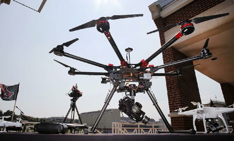 UA bars drones over campus after flights above rally, game