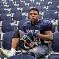 John Marcus Carruthers, Shiloh Christian junior, plays at running back and safety for the Saints.