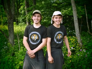 The Coder twins, Daniel and Samuel, were photographed along the Appalachian Trail on June 12 by renowned photographer, Anne Day, of Salisbury, Conn.