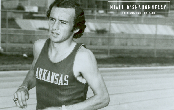 Former Arkansas track star Niall O'Shaughnessy will be inducted into the SWC Hall of Fame on Nov. 9, 2015. (photo courtesy UA public relations)