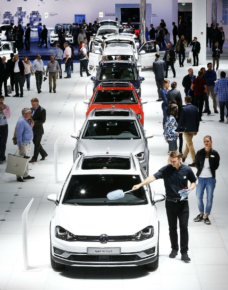 Volkswagen Cars Were Lined Up Earlier This Week At The Frankfurt Auto Show In Germany German Automaker Has Admitted Installing