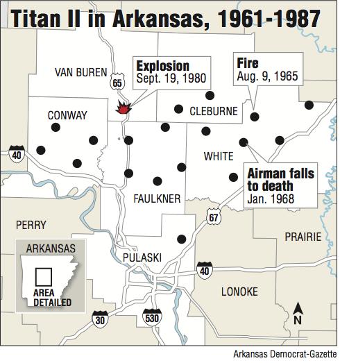 Explosive Era Tour Visits Site Where Titan II Blast In Sent - Map of us missile silos