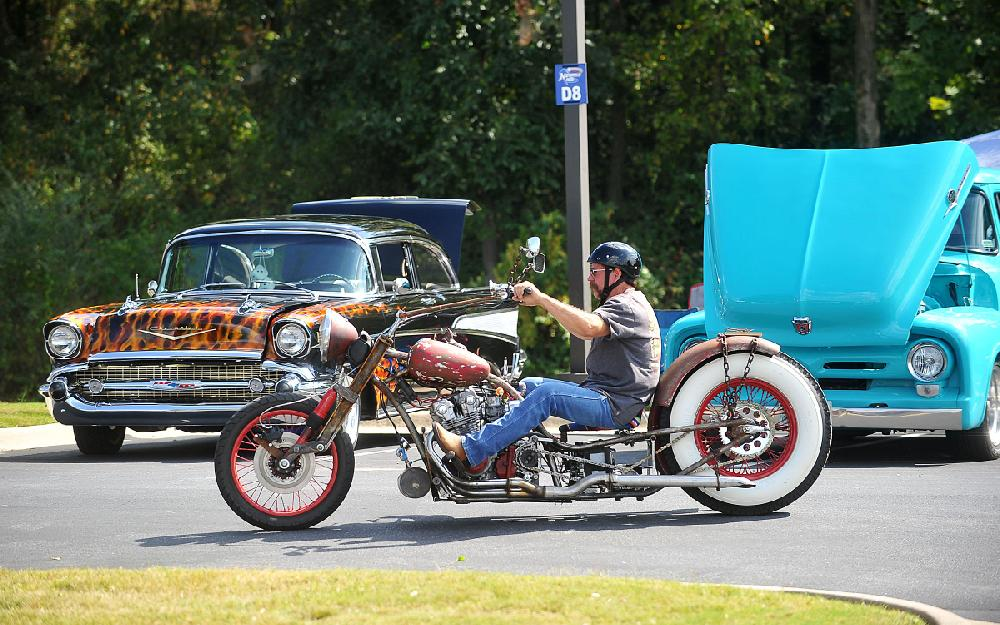 Annual Motorcycle And Car Show