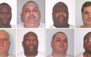 Executions have been stayed for (top row, from left) Kenneth Williams, Jack Jones Jr., Marcell Williams, Bruce Earl Ward, and (bottom row, from left) Don Davis, Stacey Johnson, Jason McGehee and Terrick Nooner.