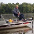 Bob Winkleman, 83, trolls for crappie at Lake Sequoyah. He has fished the lake since it was built, a...