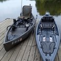 The NuCanoe brand of fishing canoe is perfect for small lakes like Lake Sequoyah, McBride said. His ...