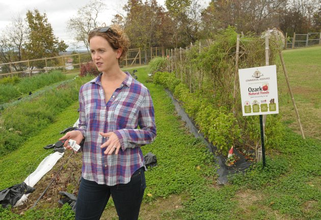 mary-thompson-co-executive-director-of-apple-seeds-speaks-thursday-at-the-nonprofit-groups-teaching-farm-in-fayetteville-the-organization-won-city-council-approval-last-month-for-a-lease-for-2-acres-of-land-in-gulley-park-adjacent-to-a-house-it-had-purchased-to-establish-a-similar-operation-for-more-photos-go-to-wwwnwadgcomphotos