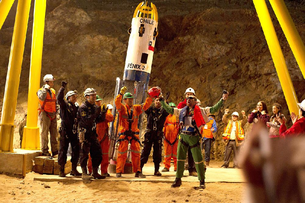 33 chilean miners trapped Relatives of the 33 chilean miners celebrate after the rescue of the last miner in copiapo, chile, on wednesday, oct 13 the 33 miners had been trapped 700 meters.