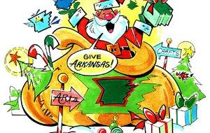 Arkansas Democrat-Gazette Santa illustration