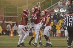 Arkansas defensive end Deatrich Wise Jr. celebrates a sack during a game against Missouri on Friday, Nov. 27, 2015, at Razorback Stadium in Fayetteville.